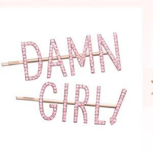Damn Girl Hair Pin Set-Brand New
